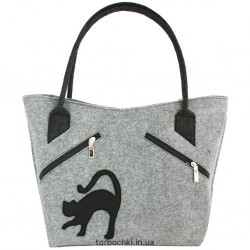 Женская сумка из войлока