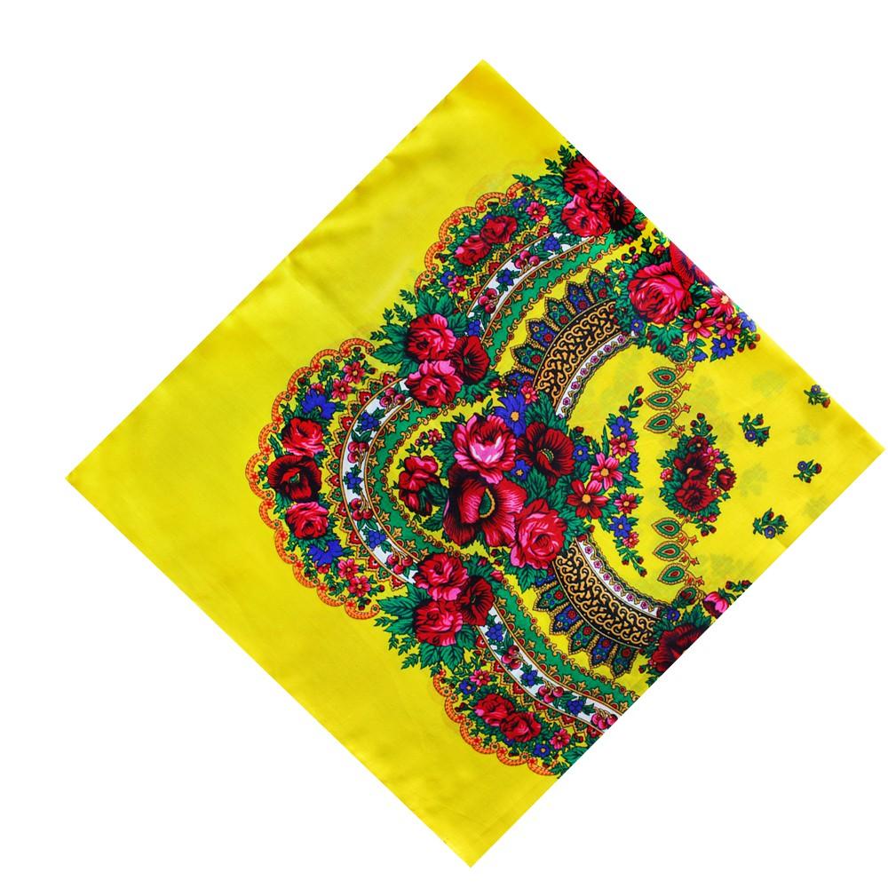 cab4cefdedf5 Украинский платок-хустка с цветочным орнаментом в этно стиле