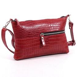 Женская сумочка из натуральной кожи с карманами