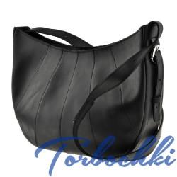 Наплечная женская сумка в тиле Hobo 2 в 1 из натуральной кожи