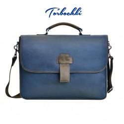 Мужская сумка-портфель из натуральной кожи