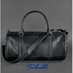 Мужская сумка- бочонок из натуральной кожи