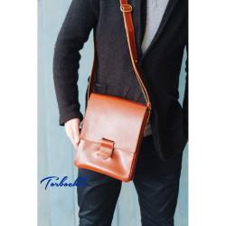Мужская сумка мессенджер из натуральной кожи