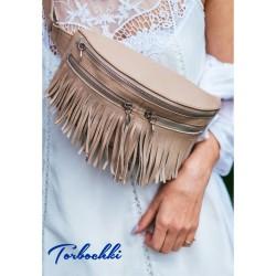 Женская поясная сумка 3в1 из натуральной кожи