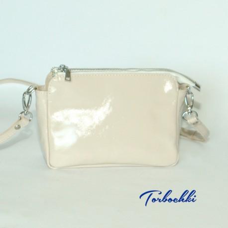 Женская сумочка кроссбоди из натуральной кожи