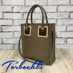 Женская сумка шоппер и натуральной кожи