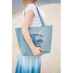 Летняя сумка из рогожки