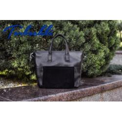 Женская сумка из натуральной кожи и замши