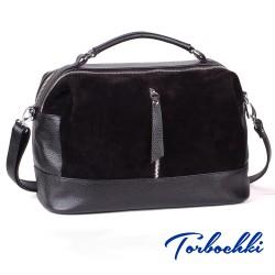 Женская сумка из замши и натуральной кожи