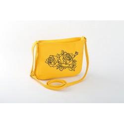 """Маленькая  сумка-клатч """"Yellow rose"""""""